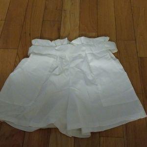 White paperbag shorts new